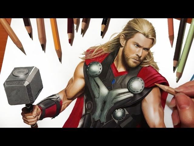 Speed Drawing: Chris Hemsworth as Thor   Jasmina Susak