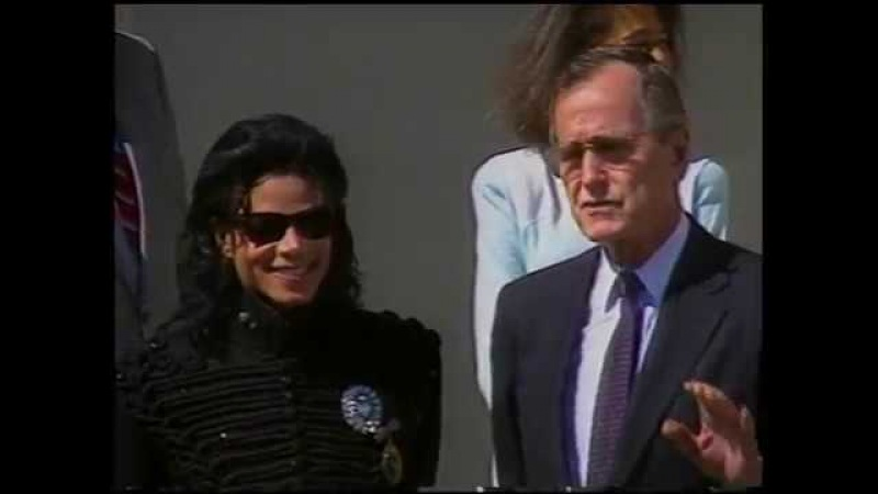 Michael Jackson Artist Of The Decade George Bush Sr 1990 Washington D C