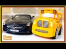 Bussy Speedy - MERCEDES SLS Construction - Toy Cars unboxing videos for kids. Cars for children