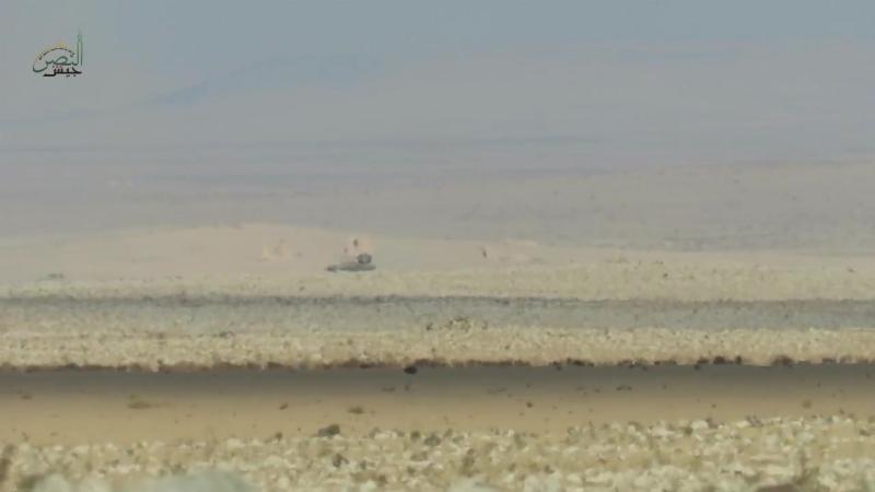 Сирия.02-12-2017.Поражение ЗСУ-23-4 Шилка САА из ПТРК TOW,юг провинции Алеппо