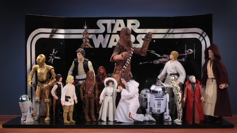 Star Wars 40th Anniversary - OG Figures Join Forces w_ Modern in the Ultimate Light vs. Dark Battle
