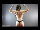 19 years old muscle girl Cassiane Buzan flexing her biceps 720p
