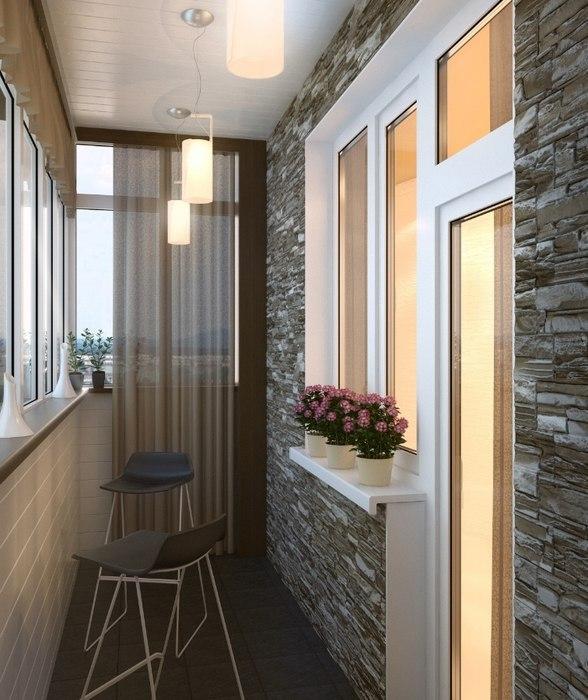 Красивые интерьеры балконов и лоджий
