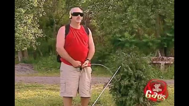 Blind Man Pees On People Prank