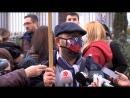 Пред Влада на Република Македонија се одржа протест поради високата загаденост на воздухот во Скопје