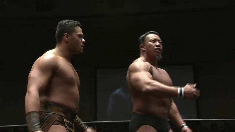 Katsuya Kitamura, Toa Henare vs. Yujiro Takahashi, Bad Luck Fale (NJPW - HONOR RISING JAPAN 2018 - Day 1)