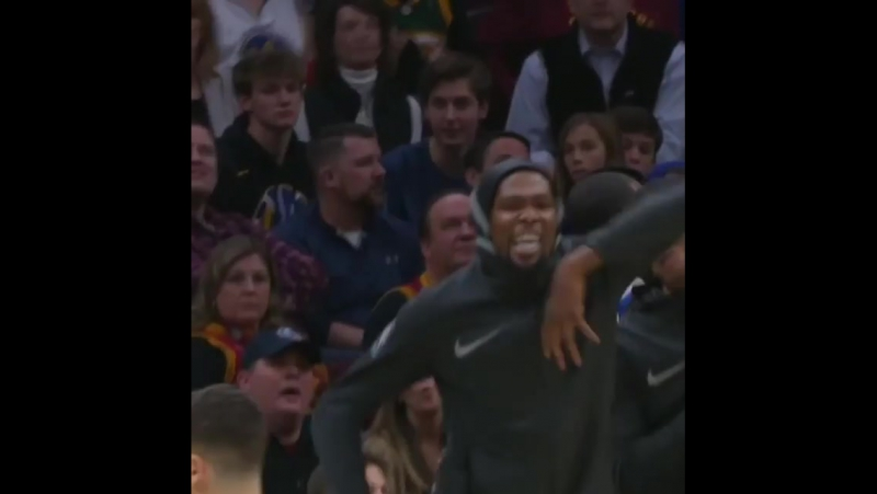 David West's dunk had KD FIRED UP