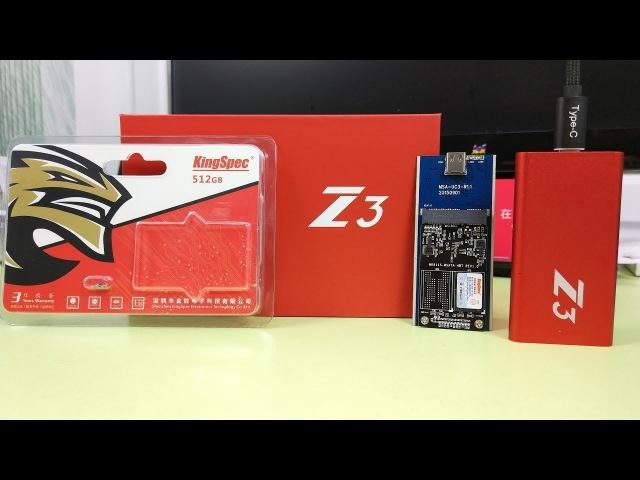 KingSpec Z3 512GB Type-С USB 3.1 mSATA 512GB / ОЧЕНЬ БЫСТРЫЕ SSD! ► Посылка из Китая / AliExpress