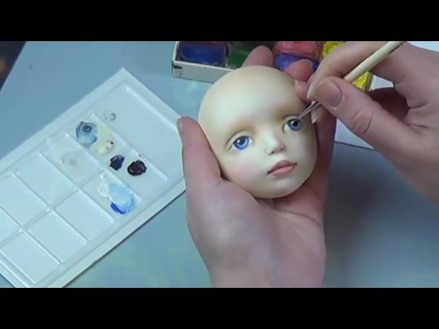 Роспись глаз авторской куклы