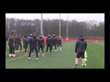 Manchester United train ahead of crunch Sevilla clash
