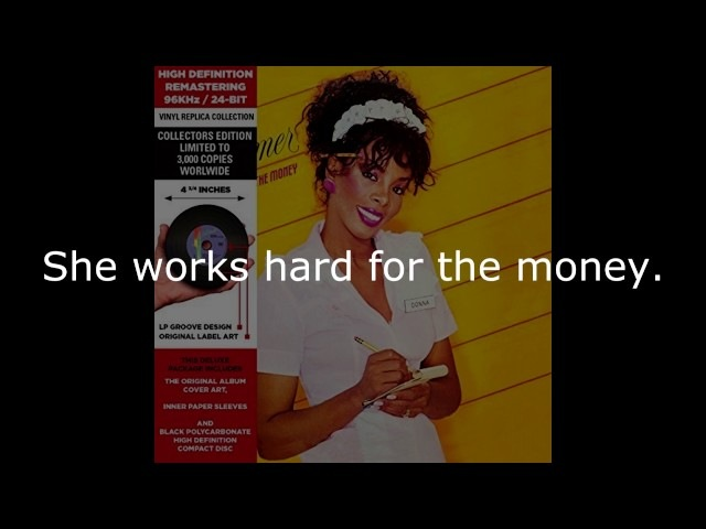 Donna Summer - She Works Hard for the Money (LP Version) LYRICS SHM