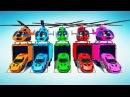 Учим Цвета и Цифры Мультик Для Детей Учимся Считать Машинки и Цветные Вертолеты Песенки Для Малышей