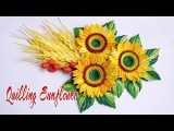 Quilling Sunflower Tutorial Quilling Girasol Tutorial Live Stream Tran Nga 3D Origami