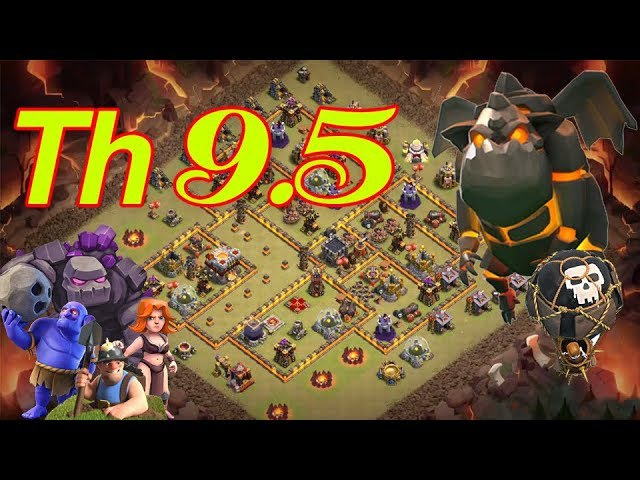 Clash of clans - New TownHall 10 (TH 9.5) Warbase| Anti all | Tested Proof
