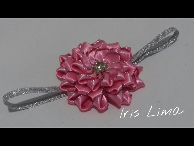 Como fazer flor de fita parte 2 / DIY , TUTORIAL, PAP By Iris Lima