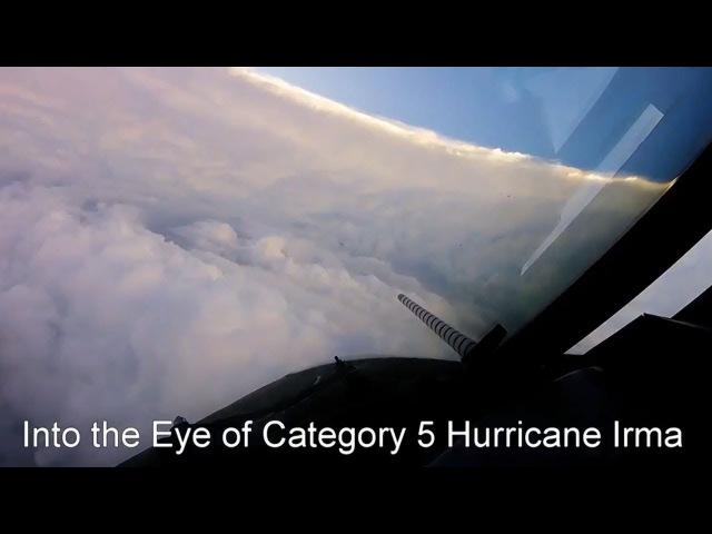 Flying into the eye of Hurricane Irma