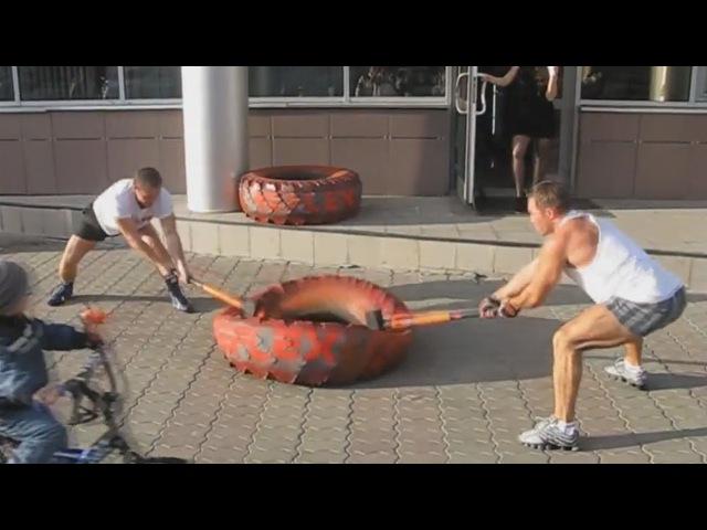 Тренировка с кувалдой максимально мускулистая / Training with a sledge hammer