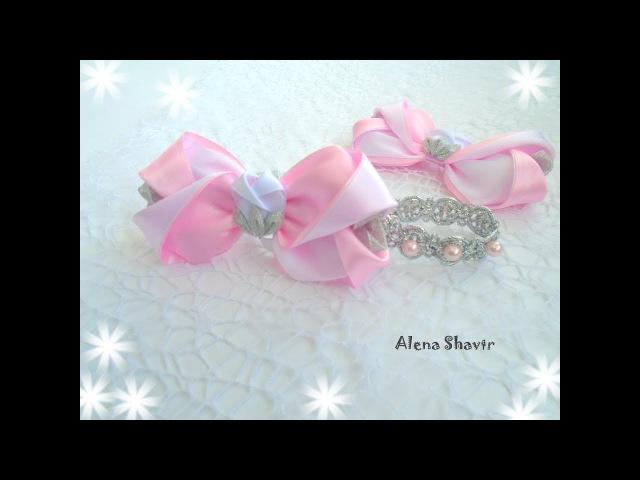 Шикарный бантик МК Канзаши Alena Shavtr /DIY Elegant bow