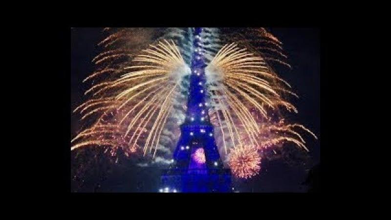 PARIS fireworks Happy New Year 2018 feu d'artifice paris nouvel an 2018
