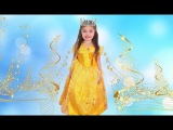 Dominika transforms into Princesses and plays with magic dresses Video for kids