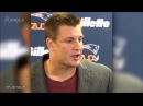 Rob Gronkowski Makes 69 Joke During Post Game Interview