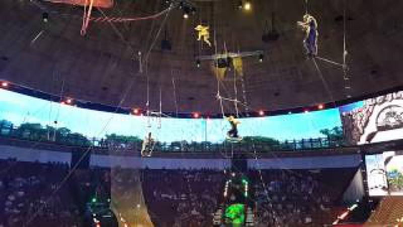 Выступление акробатов в Большом Московском цирке