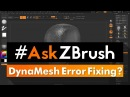 AskZBrush How can I fix DynaMesh 'Swiss Cheese' and 'Shattering' ""
