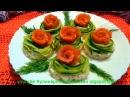 Бутерброды с красной рыбой, сыром и огурцом! - Вкусные рецепты Праздничные закуски