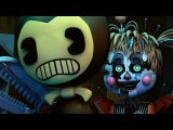 [SFM BENDY/FNAF 6] Cute Bendy Boris VS SALVAGE ANIMATRONICS Fight FNAF 6 Animation