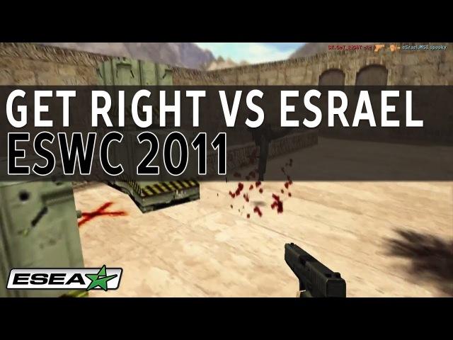 GeT_RiGhT vs eSrael at ESWC 2011
