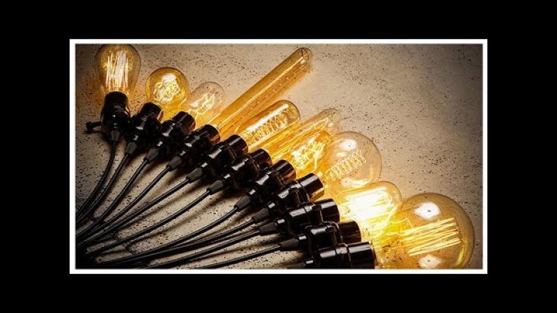 Ретро лампа Эдисона в стиле лофт обзор 💡 Loft лампочку купить