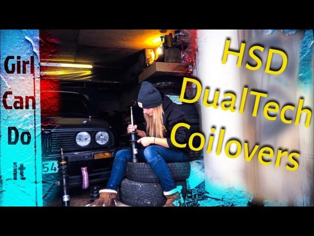 HSD DualTech coilovers. From E46 to E30. Need help. Нужна помощь