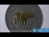 Coinsberg TV 2007 Австралия $1 Год Кабана - серебряная монета из серии Лунный Зодиак (I)