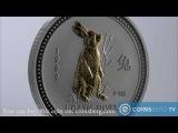 Coinsberg TV 1999 Австралия $1 Год Кролика - серебряная монета из серии Лунный Зодиак (I)