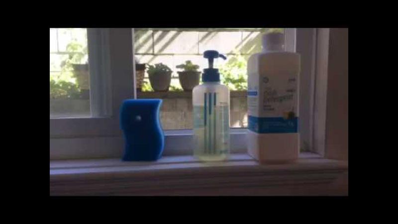 Жидкость для посуды, латексные перчатки и скраббер от Атоми Atomy Dish Detergent, Latex Gloves and