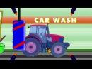 Мультик Трактор и комбайн смотрим как моются машинки!