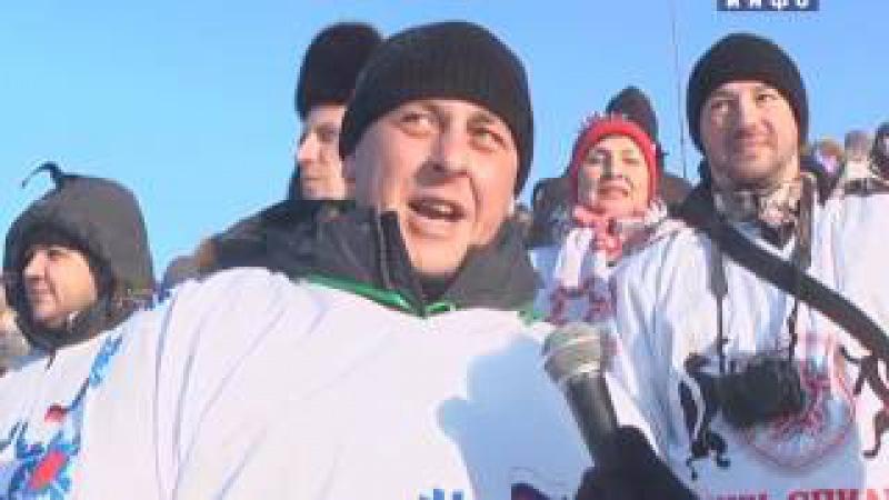 Финал личного чемпионата России по ледовому спидвею в Шадринске (2017-01-09)
