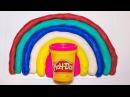 Разноцветная радуга из плей до Как сделать радугу и запомнить все цвета
