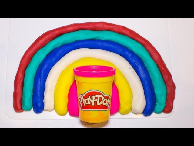 Разноцветная радуга из плей-до. Как сделать радугу и запомнить все цвета?