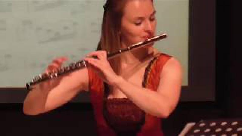И.С. Бах. Соната для флейты и баса №4 C-dur 1 и 2 части.