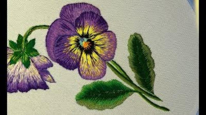 Embroidery : Long Short stitch| Вышивка гладью