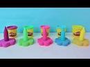 Лепим кинетический песок и Пластилин Play Doh. Куклы Пупсики и Игрушки Зырики ТВ Дет...
