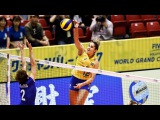 Top 15 BEST Volleyball Spikes by Natália Pereira Brazil | 2017 Womens World Grand Champions Cup