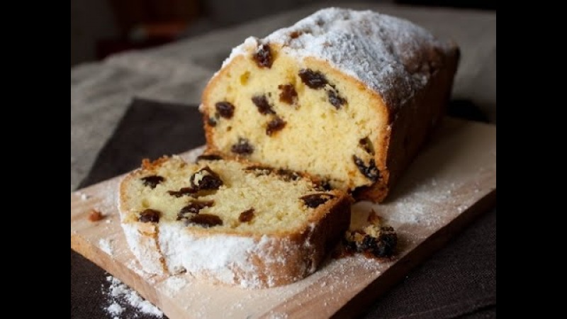 Воздушный ароматный пирог с изюмом.Супер простой рецепт кекса с изюмом. » Freewka.com - Смотреть онлайн в хорощем качестве