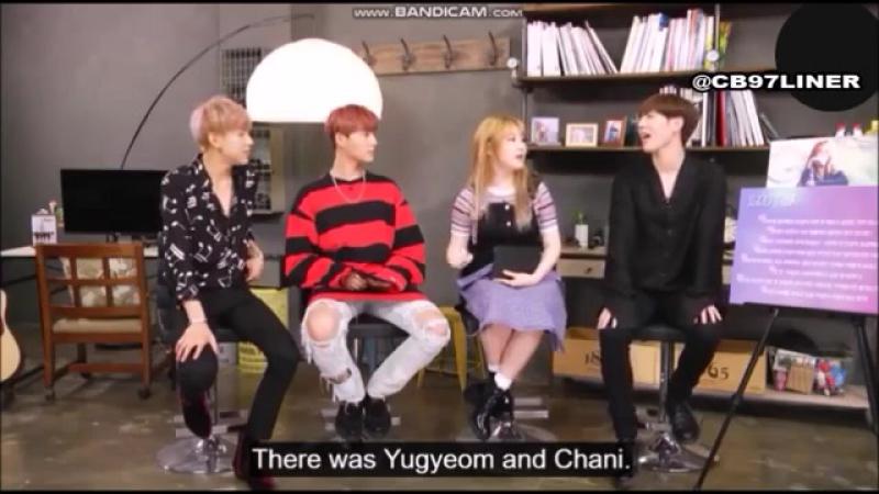 Чимин(15), Югём и БэмБэм из GOT7 говорят о Чане из Stray Kids