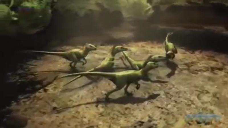 Битва гигантов. Сражения динозавров. Тиранозавр против рапторов. Документальные