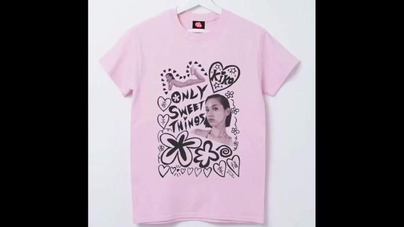 221017 ONLY SWEET THINGS💖 T-Shirt👚[PINK,WHITE] 🐹