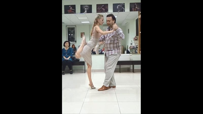 Алексей и Мария Рукавицыны. Милонга Silueta portena оркестра Andre y su conjunto