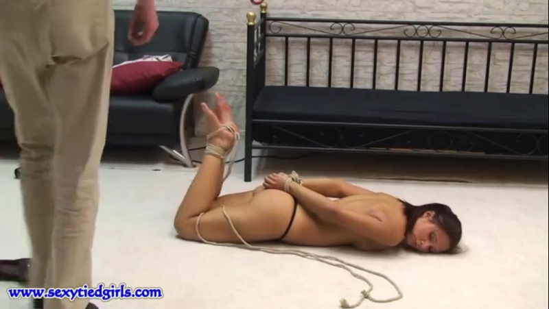 Sexy being hogtied