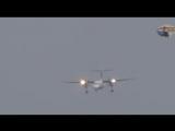 Экстремальная посадка самолёта при боковом ураганном ветре в 110 км/ч